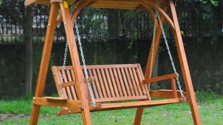 Ideal Hardwood Swing Seat For Your Pool