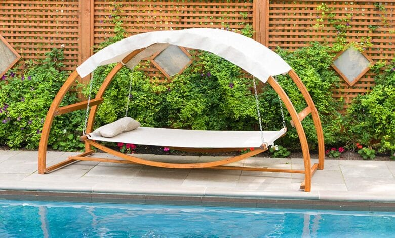 Photo of Ideal Hardwood Swing Seat For Your Pool in 2020