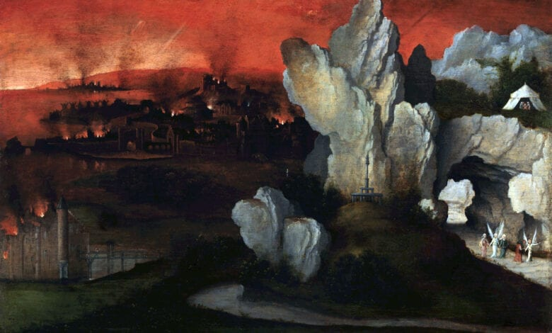 Photo of Evidence of Nuclear War in the distant Past: The destruction of Sodom and Gomorrah