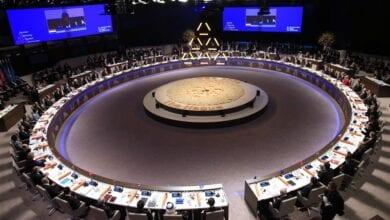Photo of World Leaders Wear Bizarre Illuminati Pyramid at Summit